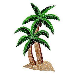 Twin Palms Pool Mosaics