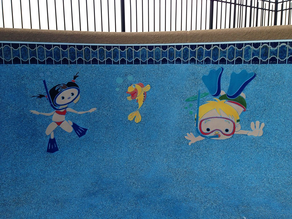 Boy Swimming Pool Mosaics