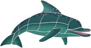 Level Swimming Dolphin Pool Mosaics