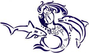 Mermaid, Shark & Dolphin Pool Mosaics