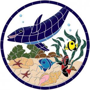 Dolphin & Friends Pool Mosaics