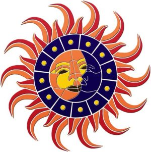 Sun & Moon Medallion 2 Pool Mosaics