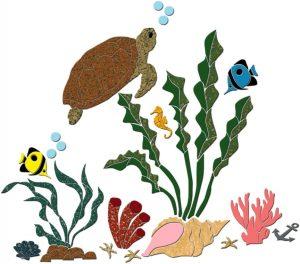 Turtle & Friends Pool Mosaics