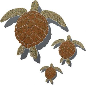 Turtle 2 Family Pool Mosaics
