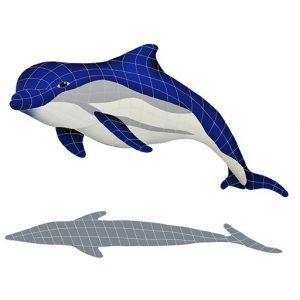 Bottlenose Dolphin Upward Pool Mosaics