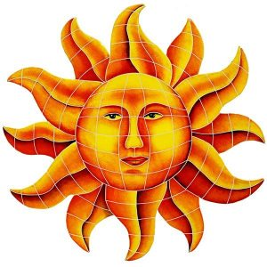 Celestial Sun Pool Mosaics
