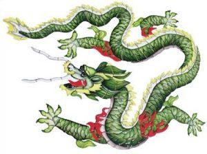 Chinese Dragon Pool Mosaics