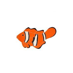 Clown Fish Left Pool Mosaics
