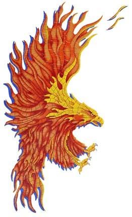 Flaming Eagle Pool Mosaics