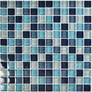 Aqua Blend 1″ x 1″ (Crystal Series) Glass Pool Tile