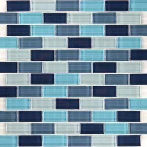 Aqua Blend 1″ x 2″ (Crystal Series) Glass Pool Tile