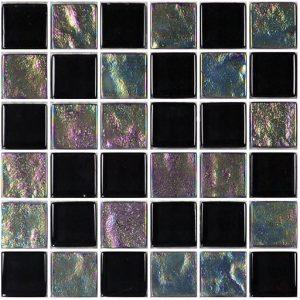 Black 1″ x 1″ (Twilight Series) Glass Pool Tile