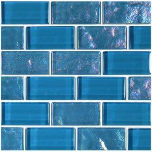 Azure 1″ x 2″ (Twilight Series) Glass Pool Tile