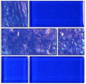 Royal Blue Mixed (Twilight Series) Glass Pool Tile