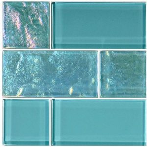 Turquoise Mixed (Twilight Series) Glass Pool Tile