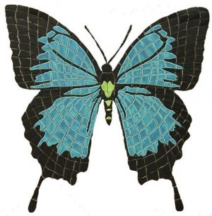 Papilio Ulyesses Butterfly Pool Mosaics