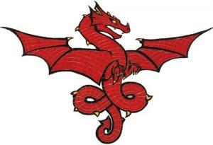 Red Dragon Pool Mosaics