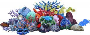 Glass Reef Scene Pool Mosaics