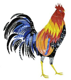 Rooster Pool Mosaics