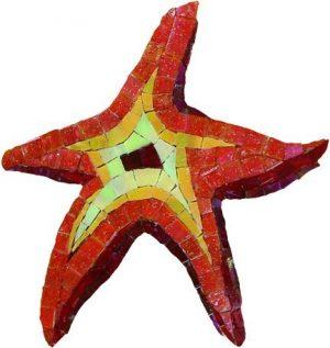 Glass Starfish Pool Mosaics