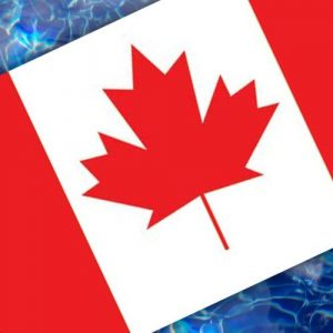 Drop-In Canadian Flag Pool Mat Pool Mosaics