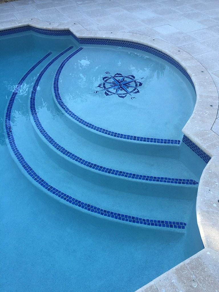 Compass/Medallion 2 Pool Mosaics