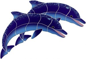 Double Dolphins Pool Mosaics