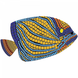 Drop-In Angelfish Pool Mat Pool Mosaics