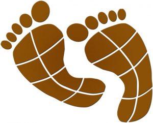Footprints (Pair) Pool Mosaics