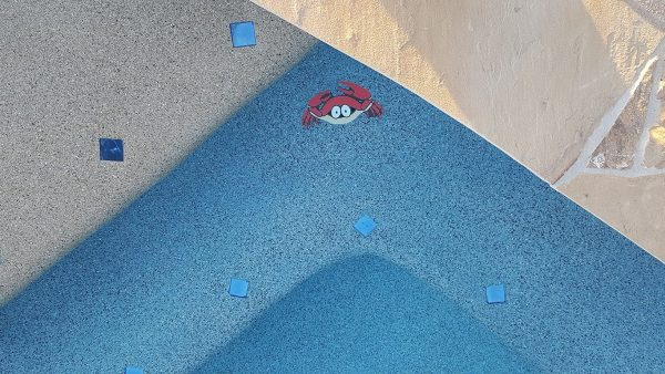 Fun Crab Pool Mosaics