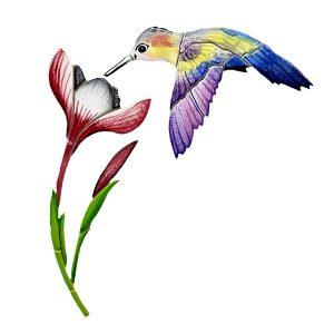 Hummingbird with Flower Pool Mosaics