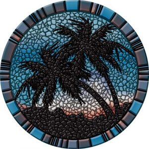 Drop-In Palm Trees Pool Mat Pool Mosaics