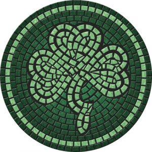 Drop-In Shamrock Pool Mat Pool Mosaics