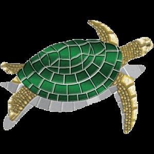 Drop-In Turtle Pool Mat Pool Mosaics