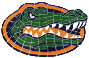 University of Florida Gator Head Pool Mosaics