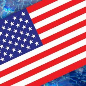 Drop-In U.S.A. Flag Pool Mat Pool Mosaics