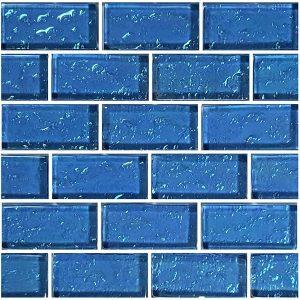 Blue 1″ x 2″ (Galaxy Series) Glass Pool Tile