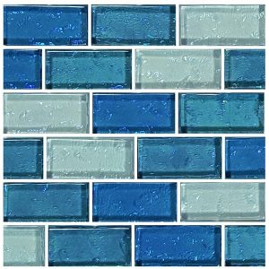 Blue Blend 1″ x 2″ (Galaxy Series) Glass Pool Tile