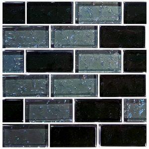 Slate 1″ x 2″ (Galaxy Series) Glass Pool Tile