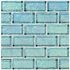Aquamarine 1″ x 2″ (Galaxy Series) Glass Pool Tile