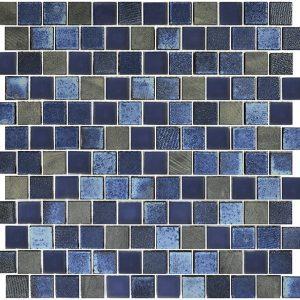 Dark Blue Blend 1″ x 1″ (Lunar Series) Glass Pool Tile