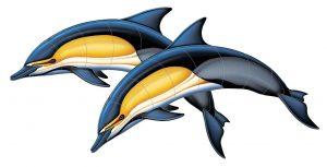Common Dolphin A (Double) Pool Mosaics