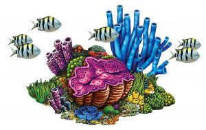 Coral Reef with Fish Pool Mosaics