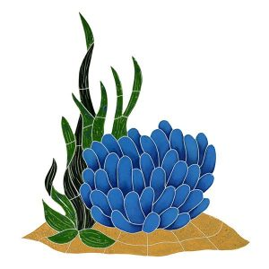 Anemone Reef Accent Pool Mosaics