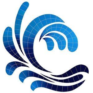 Wave Accent Pool Mosaics