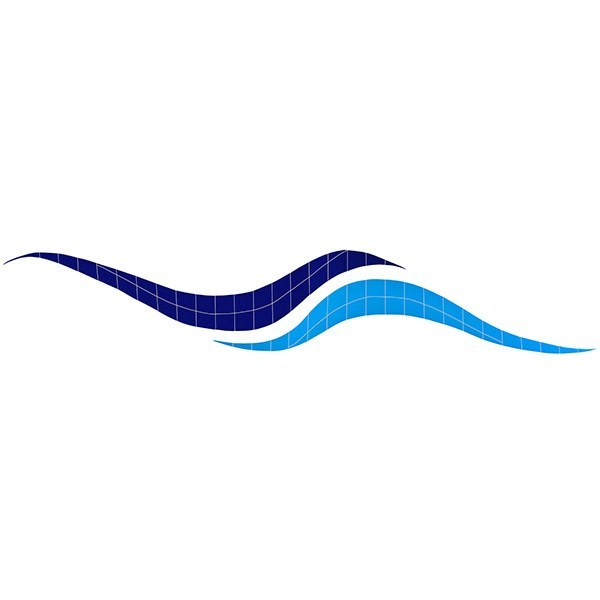 Wave Border Pool Mosaics