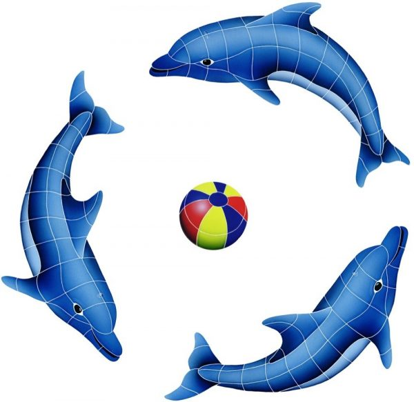 Dolphin Group Pool Mosaics