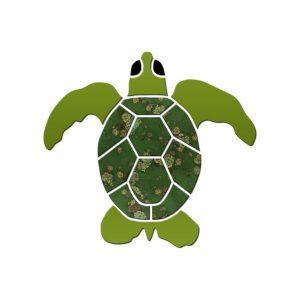 Small Turtle Pool Mosaics