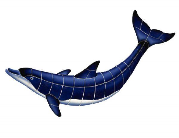 Blue Dolphin B Pool Mosaics