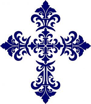 Baroque Cross Pool Mosaics